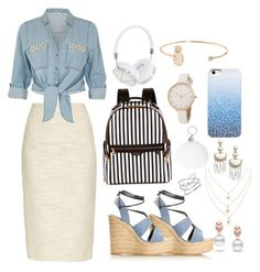 """""""Perfect  ⚓️🏝"""" by lalisilvarey ❤ liked on Polyvore featuring Rochas, River Island, Henri Bendel, Frends, Humble Chic, BaubleBar, Escalier and Yves Saint Laurent"""