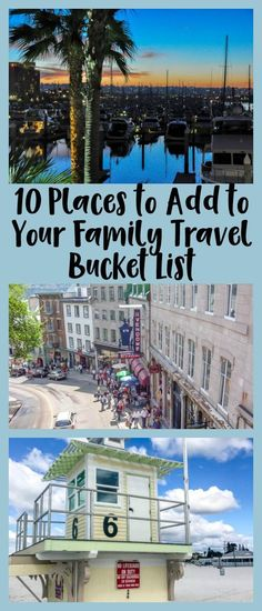 10 Places to Add to Your Family Travel Bucket List 10 family-friendly destinations for your family travel bucket list, including Atlantis Bahamas, Nashville, and Lisbon Portugal. Us Travel Destinations, Family Vacation Destinations, Best Vacations, Vacation Trips, Vacation Spots, Places To Travel, Places To Visit, Vacation Travel, Family Vacations
