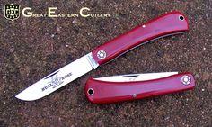 #71 Farm & Field Tool Bullnose in Red Linen Micarta