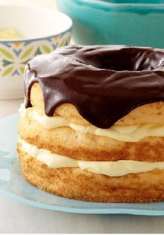 Boston Cream Pie Made Over – Our made-over version of classic Boston cream pie is airier, more delicate and low fat. We think it's a great improvement. Enter the Celebrate Delicious Spring Desserts Pin to Win Sweepstakes! Pin your favorite dessert or select your own for a chance to win a professional mixer! Visit www.kraftrecipes.com/springdesserts/?affiliate_id=1a for complete details.