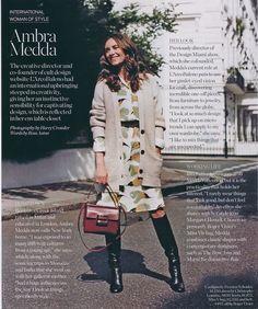 Ambra Medda. October issue of Porter magazine.