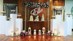 Beautiful setup for #christening of Elle 💕#antiqueswing #pillars #cakestands #goldcakestands #prophire #propehiresydney #christening #engagement #birthdayparty #partydecoration #partyhiresydney  Antique swing from @celebratingevents  White pillars from @celebratingevents  Gold cake stands @celebratingevents  Name by @sealedwithloveco  Sweets by @sweetsbypierra  More details coming soon 👌