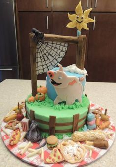 Charlotte's Web Cake