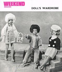 Weekend dolls wardrobe fashion doll clothes vintage by Ellisadine