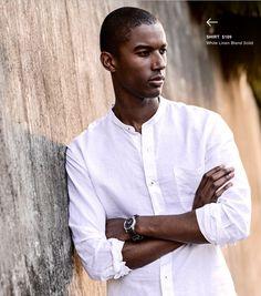 SHIRT  $109  White Linen Blend Solid http://denisemcbride.jhilburn.com/lookbooks/spring-summer1-2014#3