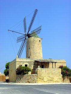 Xarolla Windmill, Żurrieq, Malta - one of the 5 windmills constructed by the Knights of Malta on the island.