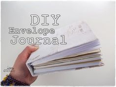 If you're still a pencil and paper kind of gal it's time to get crafty and make your own notebook! Here's 30 stunning DIY notebook designs to inspire you. Envelope Book, Diy Envelope, Album Journal, Junk Journal, Diy Notebook, Notebook Design, Mini Albums, The Frugal Crafter, Album Scrapbook