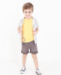 Fluo-oranje T-shirt - JBC Webshop BE - NL