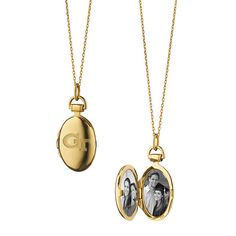 Georgia Tech Monica Rich Kosann Petite Locket in Gold
