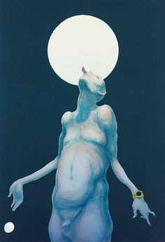 Michael Kvium - er det ikke 'licking the moon' det hedder ? Danish Modern, Graphic Design Art, Nye, Love Art, Art History, Denmark, The Darkest, Disney Characters, Fictional Characters