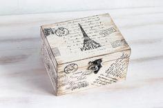 Parijs houten Box sieraden opslag Beige van MyHouseOfDreams op Etsy