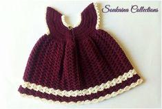 Little Princess Sara Crochet Baby Dress Free Patte Crochet Baby Dress Free Pattern, Baby Girl Dress Patterns, Crochet Baby Clothes, Baby Patterns, Crochet Patterns, Free Crochet, Skirt Patterns, Crochet Dresses, Coat Patterns