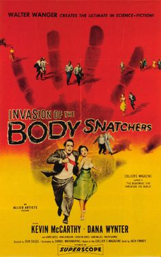 """Don Siegel's """"Invasion of the Body Snatchers"""" (1956) is another good fright night film. This chilling psychological sci-fi thriller stars Kevin McCarthy as a doctor in the small California community of Santa Mira. When several patients begin reporting that their loved ones don't seem to be themselves lately, the doctor looks into these reports and makes a shocking discovery: aliens from another world are taking over Santa Mira, one citizen at a time. Scary but not gory."""