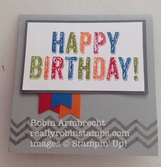 Birthday Surprise, Stampin' Up!, Work of Art, Banner punch