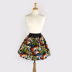 Hey, I found this really awesome Etsy listing at https://www.etsy.com/listing/151374795/pinup-hollywood-monsters-a-line-pleated