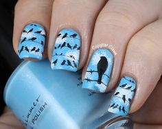 Copycat Claws: Birds on a Wire Stamping - Inspired by Messy Mansion