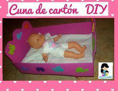 Tutorial cuna de cartón para muñecas