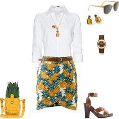 pineapple skirt to match my lemon pants. you think i'm kidding Pineapple Clothes, Teacher Fashion, Teacher Style, Pineapple Print, Classroom Inspiration, Summer Wardrobe, Printed Skirts, Amy, Lemon