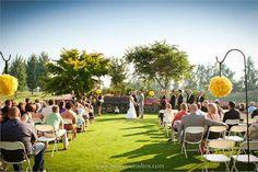 Clainos & Smith's Wedding Ceremony - Langdon Farms Golf Club - Red Shed Lawn - Aurora, Oregon