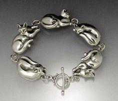 Cat Nap Link Bracelet