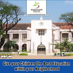 The leaders of tomorrow deserve the right kind of education. Give the best educaiton to your little prince and princess by booking an apartment at Maruthamgroup. We have reputed educational institutions near our residential community.   #BuyApartmentsinChennai #2BHKFlatsinChennai #FlatsinTambaram #MaruthamDevelopers #FlatsinUrapakkam