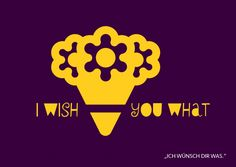 I wish you what | Denglisch | Echte Postkarten online versenden | MyPostcard.com