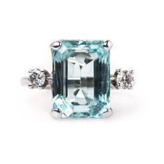 Shop diamond and sapphire cocktail rings and other antique and vintage rings from the world's best jewelry dealers. Colored Engagement Rings, Shop Engagement Rings, Gemstone Engagement Rings, Vintage Engagement Rings, Wedding Rings Vintage, Cocktail Rings, Ring Designs, Envy, Trumpet