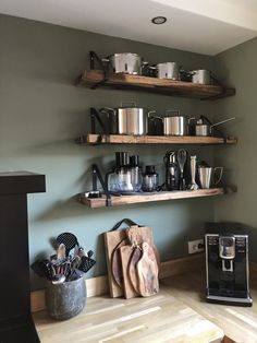 30 Fun and Fresh Decor Ideas to Make Your Kitchen Wall Looks Amazing Apartment Kitchen, Home Decor Kitchen, Kitchen Interior, Home Kitchens, Loft Design, Küchen Design, Design Ideas, Diy Cozinha, Cheap Home Decor