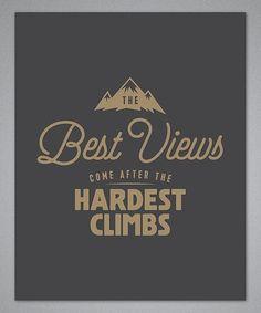 Look what I found on #zulily! 'The Best Views' Print #zulilyfinds