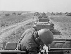 AUG 20 1944 Polish armour holds SS counter-attack at Mont-Ormel Column of Cromwell tanks of the Mounted Rifles Regiment Polish Armoured Division) moving towards enemy positions during the Battle of Falaise Pocket. Cromwell Tank, Les Cents, Normandy Invasion, Normandy Beach, D Day Landings, Sherman Tank, War Image, Ww2 Tanks, Us Army