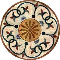MD098 Marble Mosaic Medallion Tile