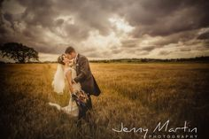 Corn Fields Wedding Couple