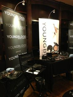 Youngblood's makeup all ready and prepped