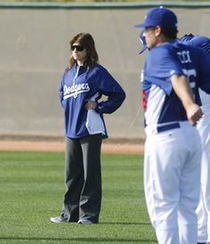 The Los Angeles Dodgers' Sue Falsone is the first woman to hold the title of head athletic trainer in major professional sports.
