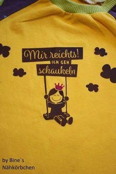 Mir reichts! Ich geh schaukeln! (Plotterdatei, Illustration und Ausmalbild von shesmile) Eine Schaukelprinzessin für kleine Prinzessinnen. Verschönert Kinderzimmer, Kinderkleidung oder Sporttaschen.