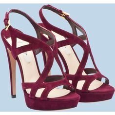 Prada Sandal (2875 QAR) ❤ liked on Polyvore featuring shoes, sandals, heels, cipele, scarpe, prada, high heel sandals, prada footwear, prada shoes and leather sole shoes