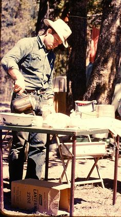 Vintage Camp Clean-up - Wyoming 1950's #men #styling