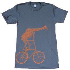 Giraffe On A Bicycle T-Shirt