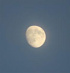 Cloudy blue sky Moon - Beautiful blue sky moon in a cloudy sky ;0)