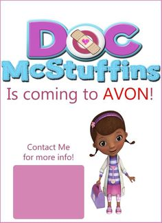 Doc McStuffins is coming to Avon this Christmas! Shop Avon online at http://eseagren.avonrepresentative.com