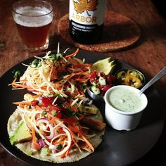 Tofu tacos with Mexi-slaw, raw cashew cilantro cream & @arborales. Perfect. | Flickr - Photo Sharing!