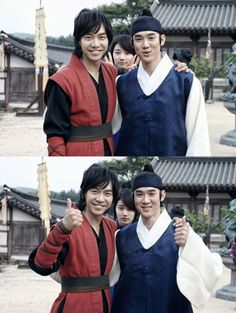 Suzy photobombs Lee Seung Gi and Yoo Yun Suk on the set of Book of the House of Gu