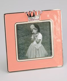 Take a look at this Pink Crown Frame by Ashleigh Manor on #zulily today!