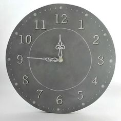 Some shades of grey Wooden clock