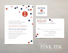 Printable Wedding Invitation : Confetti Modern by ShopPinkInk