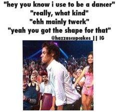 I laughed WAY too hard at this one haha :) @Harry Styles you did better than I would have done :) and at least you got up and tried :)