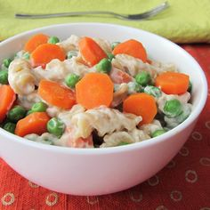 YUM! Creamy Vegan Pasta Primavera with Spring Peas and Carrots from @Go Dairy Free