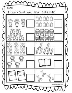 Kindergarten-1st Grade Numbers 11-20 No Prep Worksheets