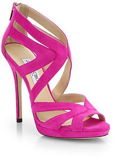 Jimmy Choo Collar Suede Platform Sandals on shopstyle.com