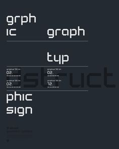 Dstruct typeface. By Frank Vogt for Fontwerp typefoundry